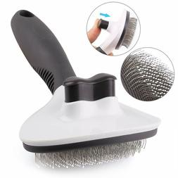 Dog Cat Pet Self Cleaning Slicker Grooming Shedding Brush fo