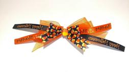 Dog hair bows with rubber bands Halloween style