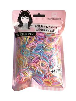 Youxuan Kids Elastics No Damage Colored Hair Bands Fashion G