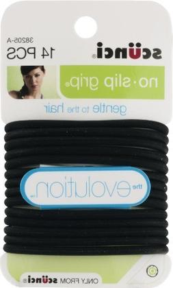 Scunci The Evolution No Slip Grip Gel Hair Ties Black - 14 C