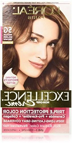 Exc H/C Gld Brn #5g R Size 1ct L'Oreal Excellence Creme Hair