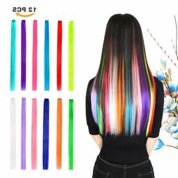 Fashion Kids Party Hair Accessories Colorful Hair Extensions