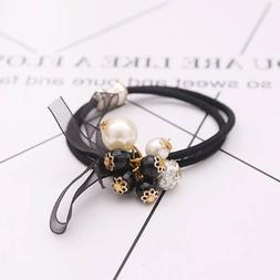 Fashion Pearls Style Elastics Hair Ties Ponytail Holders for