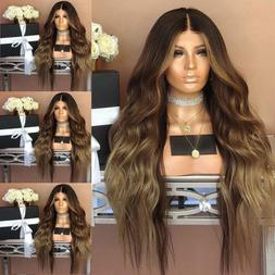 Fashion Synthetic Hair Lace Front Wig Body Wavy Full Wigs Om