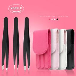 <font><b>3</b></font> PCS /set Eyebrow Tweezers Stainless St