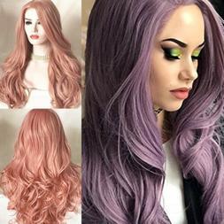 Full Wig Long Curly Straight Synthetic Hair With Blonde Wigs