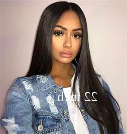 Cbwigs Glueless Brazilian Remy Natural Straight Lace Front W