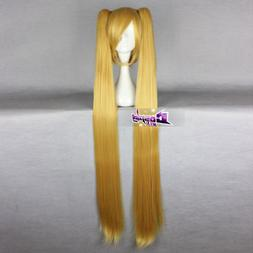 Gold Blonde Hair for Costume Vogue Anime Cosplay Wig with Lo