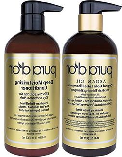 PURA D'OR Original Gold Label Anti-Thinning Shampoo & Deep M
