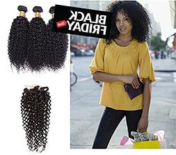 Perstar Hair 8A Grade kinkys curly hair extension 3 Bundles
