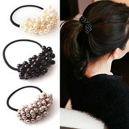Hair Accessories Pearl Elastic Rubber Bands Headwear For Wom