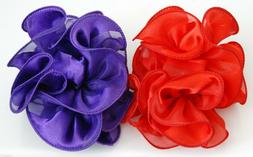 Hair Clip Claw for Hair or Red Hat / Choose Red or Purple