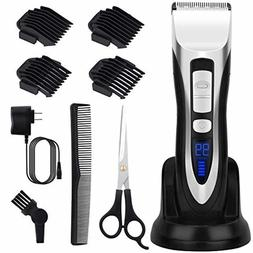 ELEHOT Hair Clippers for Men with 6 accessories Cordless Rec