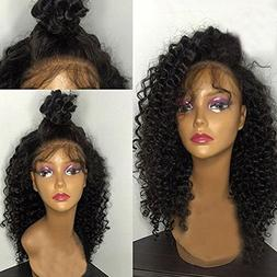 Fantasy Beauty Hair Deep Curly Brazilian Full Lace Wigs Virg