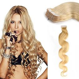 Yotty Hair Extensions Tape-in Skin Weft Seamless Remy Human