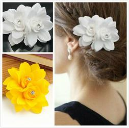 Hair Flower Clip Beauteous Pin Bridal Wedding Prom Party for