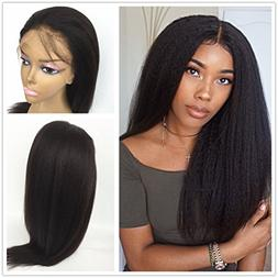 JYL Hair Italian Yaki 360 Lace Frontal Wig Pre Plucked Bleac