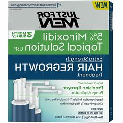 Just for Men Hair  Minoxidil Extra Strength Loss Regrowth Tr