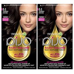 Garnier Hair Color Olia Oil Powered Permanent, 3.0 Darkest B