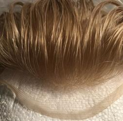 Hair piece for men Hairpiece toupee Sexy Blonde 6 X 9 All So