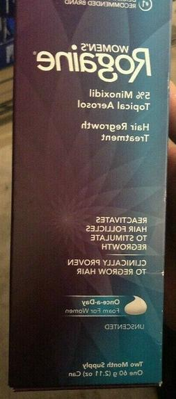 ROGAINE Hair Regrowth Treatment Foam for Women's 2 Month Exp