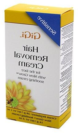 Gigi Hair Removal Cream For Face 1oz With Slow Grow Cream