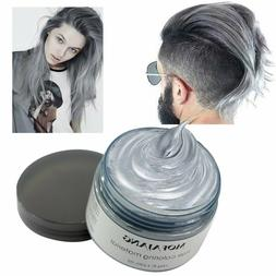 Mofajang Hair Wax Dye Styling Cream Mud DIY Silver Ash Gray