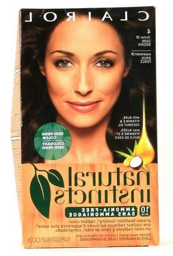 Clairol Natural Instincts, 028, Nutmeg, Dark Brown, 2 pk by