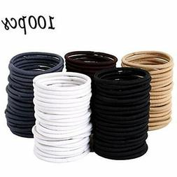 Item New 100 Pieces 4mm Hair Tie Ponytail Holders Rubber Ban