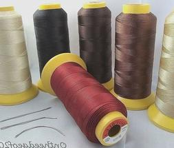 JUMBO WEAVING THREAD w/3 Pcs Hair WEAVE NEEDLE for WEFT HAIR