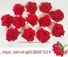 """1 PC Rose Clips for Hair, Scarf, Bags... 4 1/2"""" Big Rose Acc"""