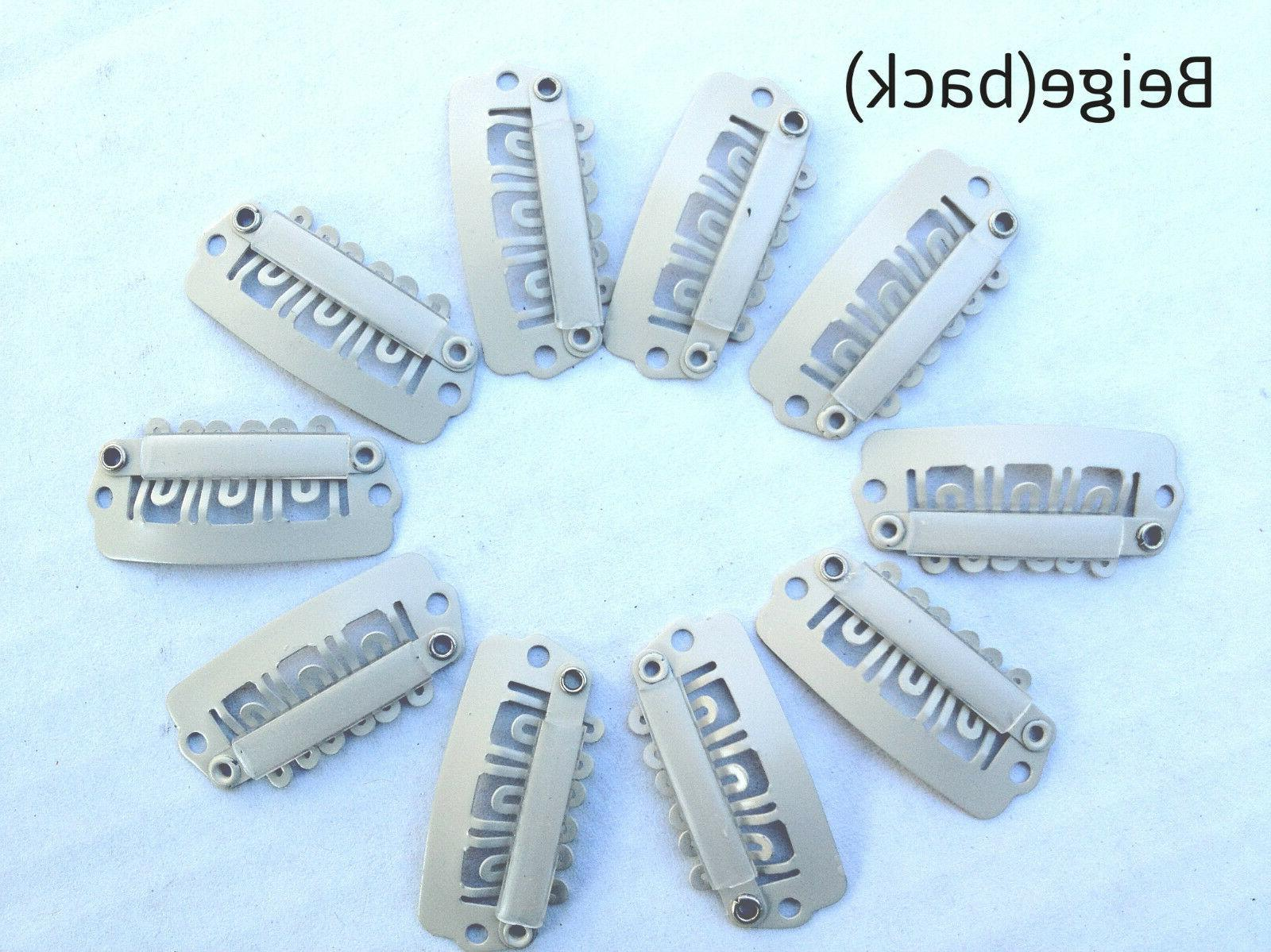 10 Snap Clips Metal U-Shape Color DIY