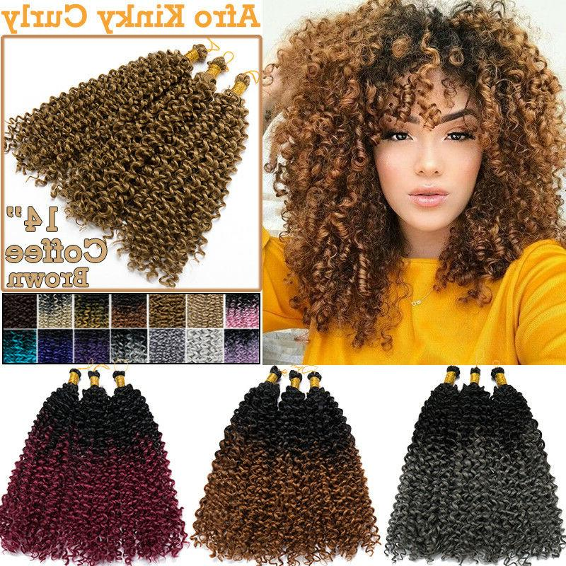 100% Brazilian Kinky Curly Wavy Weave For Human Hair Extensi