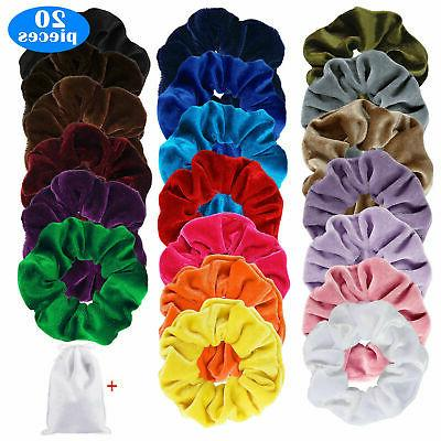 Hair Velvet Scrunchie Set Strong Rubber Band