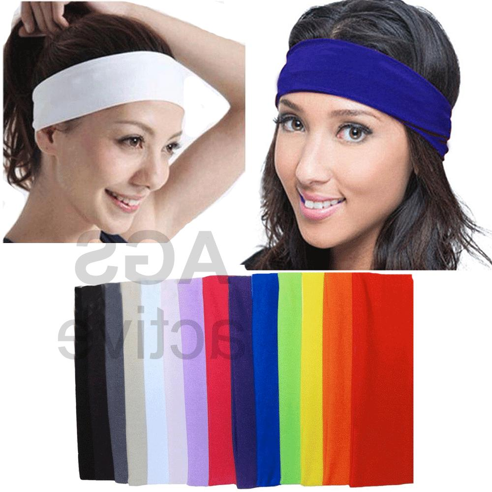 2pc headband stretch sports yoga gym black