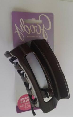 Goody PCS Claw Clip Black Brown for Hair Classic.