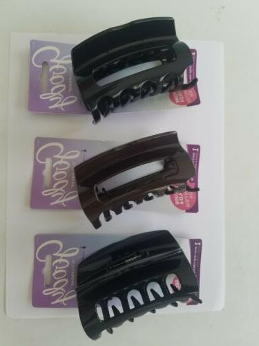 3 pcs large claw clip black