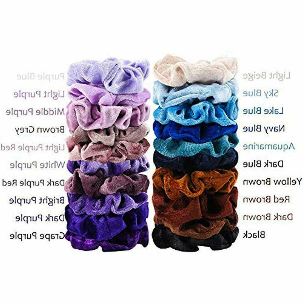 40-Pack Hair Band Scrunchies Bobble Ponytail【US】