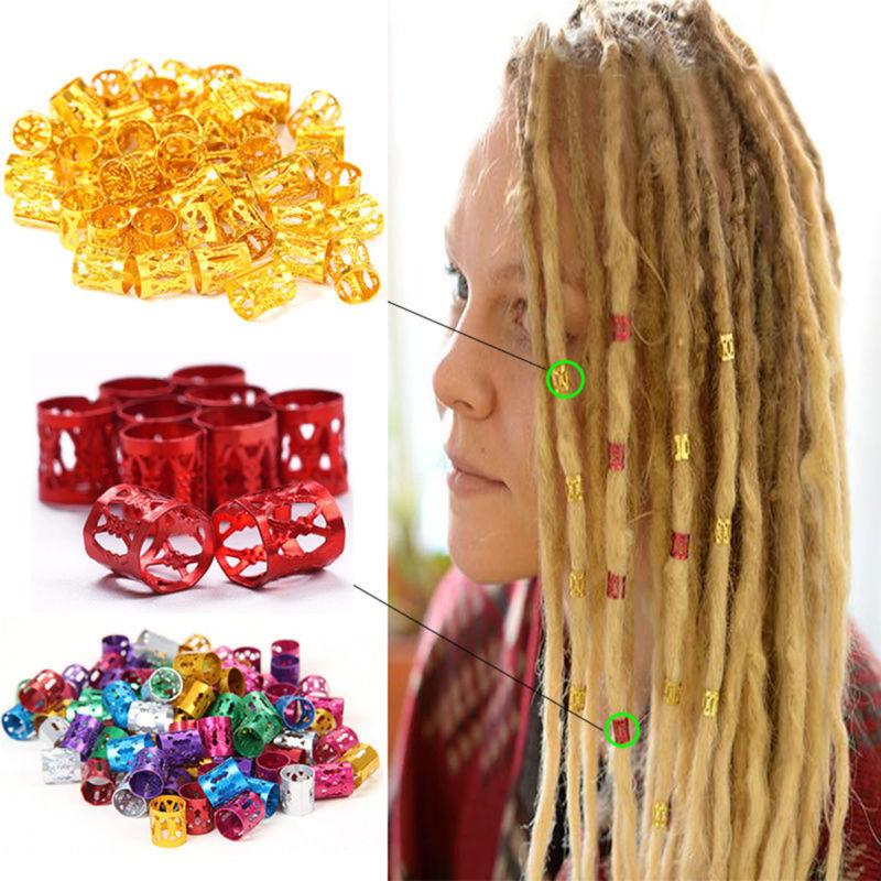 50pcs New Beads 8mm Beads Rings Hair Extensions