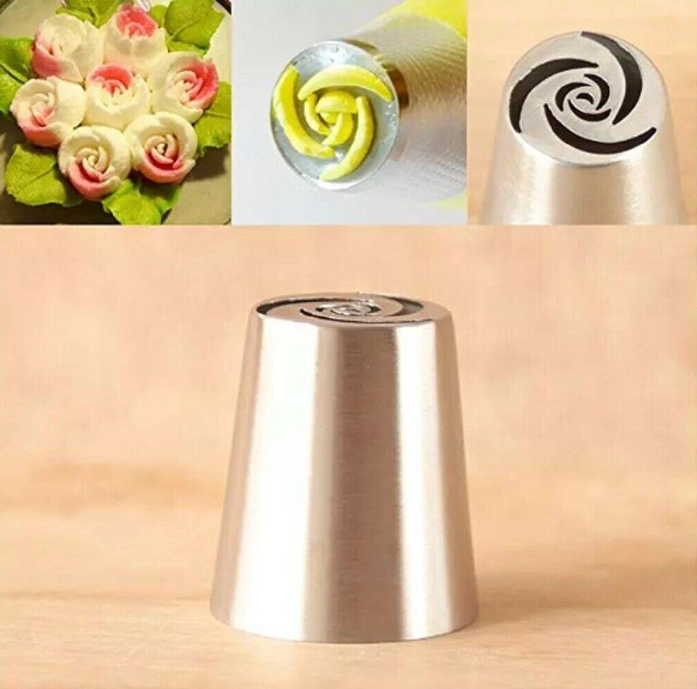 7Pcs Russian Flower Icing Piping Tips Set
