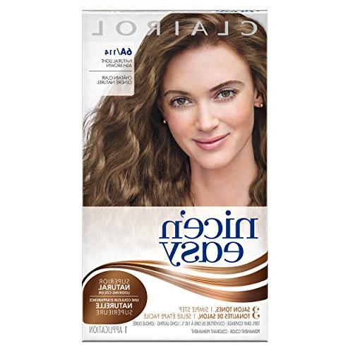 Clairol Nice 'n Easy, 6A/114 Natural Light Ash Brown, Perman