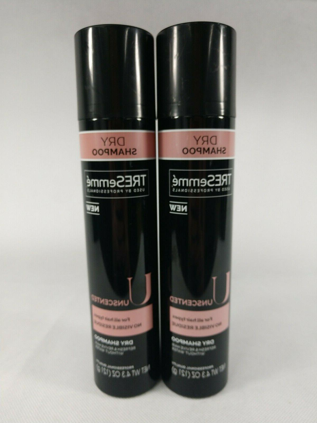 Tresemme Shampoo Dry Unscented 4.3 Ounce