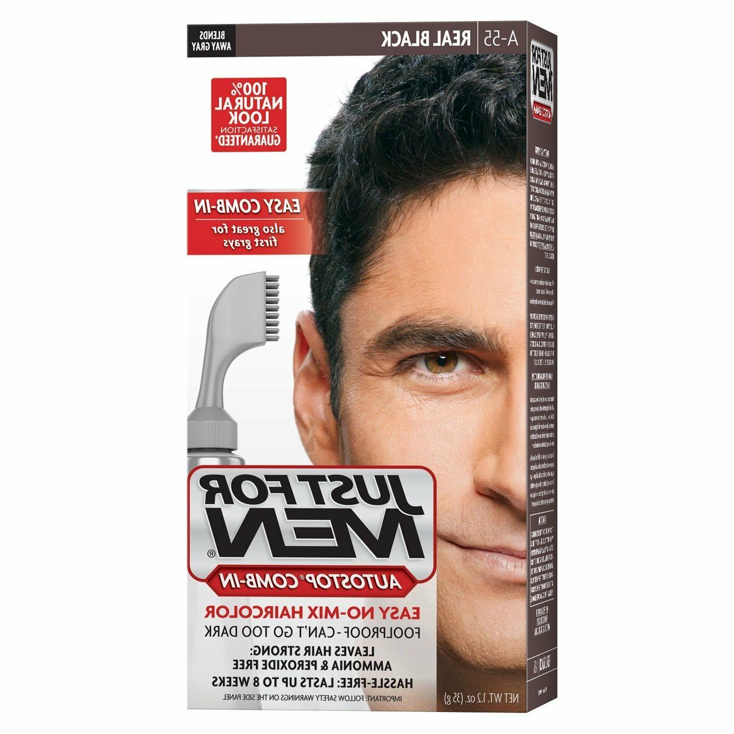 JUST FOR MEN AutoStop Haircolor Real Black A-55 1 Each