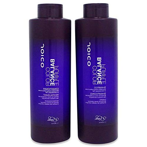 Joico Color Balance Purple Shampoo and Conditioner 33.8 oz D
