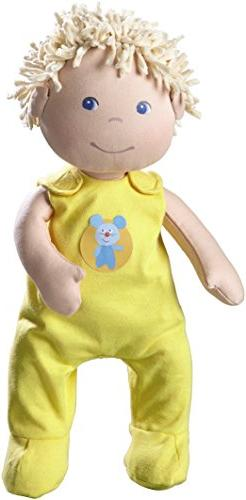 """HABA Classic Baby Doll Fritzi - 16"""" Soft Doll with Blue Eyes"""