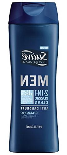 Suave Men 2 in 1 Shampoo and Conditioner, Classic Clean Anti