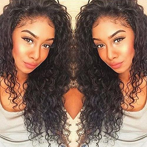 curly human lace front wigs