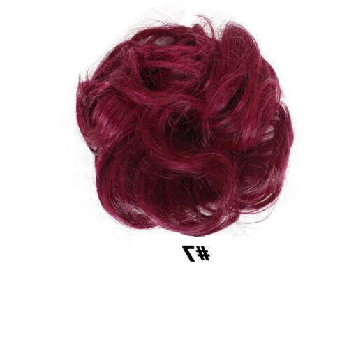 Fast Real Natural Messy Piece Scrunchie Hair Extensions Women