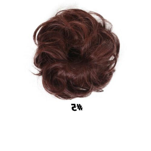 Fast Natural Messy Bun Hair Scrunchie Extensions For Women