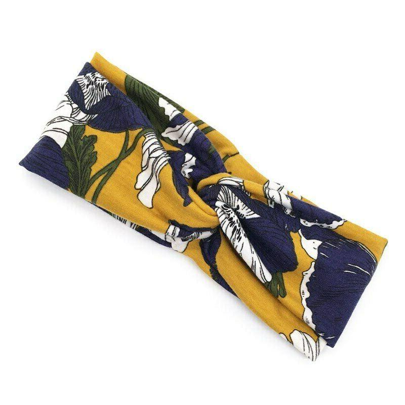Flower Print Headband For Women Turban